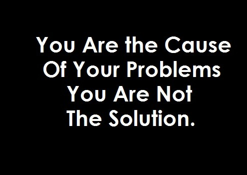 You are not the solution